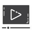video marketing glyph icon seo and development vector image vector image