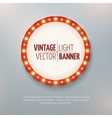 Vintage light circle banner sign Event vector image vector image