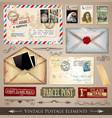 vintage postmarks vector image vector image
