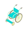 Wheelchair icon in cartoon style vector image vector image