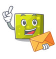 with envelope square character cartoon style vector image