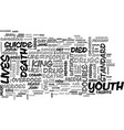 youth heroes a double standard text word cloud vector image