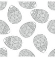 seamless pattern with doodle easter eggs vector image
