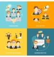 Teamwork icons flat vector image