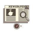 Isolated cartoon oldschool job seeker from newspap vector image