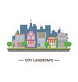 city landscape flat design vector image