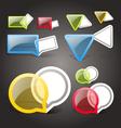 Glass style speech boubles set vector image