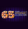 65 years anniversary banner sixty-five vector image vector image