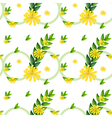 A template with yellow flowers vector image vector image