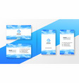 abstract blue business card template set vector image