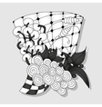 Abstract monochrome doodle ornament vector image vector image