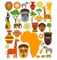 africa icon set vector image