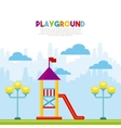 beautiful children playground icon vector image vector image
