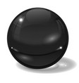 black glass ball 3d sign with shadow vector image