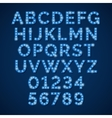 blue neon lamp alphabet font for movie vector image vector image
