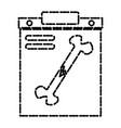 bone broken xray vector image vector image