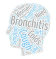 bronchitis and pregnancy text background wordcloud vector image vector image