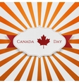 Canada Day Sign on realistic Emblem vector image vector image