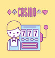 casino bets open vector image