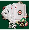 casino playing cards vector image