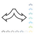 choice arrows left right icon vector image vector image