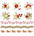 Christmas Bouquets And Borders vector image vector image