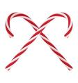 Christmas candies cartoon icon vector image vector image