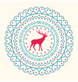 christmas pattern and reindeer vector image