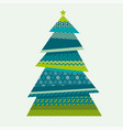 christmas textile vector image vector image