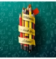 Colorful pencil crayons with text Back to school vector image vector image