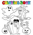 coloring book halloween topic 7 vector image