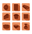 confectionery icons flat vector image vector image