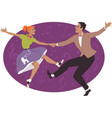 Couple dancing 1950s style rock and roll vector image vector image