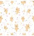 cute happy ballerina dancing french bulldog puppy vector image vector image