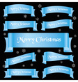 cyan shiny color merry christmas slogan curved vector image vector image