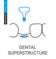 dental superstructure installation vector image vector image