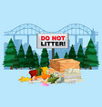 do not litter banner with city background vector image vector image