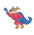 dog super hero flying 2 vector image