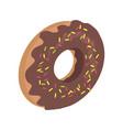donut logo sweet doughnut design flat food vector image vector image