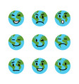 earth emotion face vector image vector image