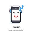 emotion phone headphones music listening vector image