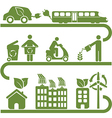 Environment icons set vector image vector image
