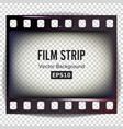 film strip frame strip blank scratched vector image vector image