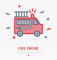 fire engine thin line icon vector image