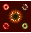 Firework ornament set vector image vector image