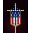 Flag of United States of America Vertical Banner vector image vector image