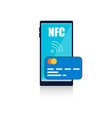 flat technology nfc on white background vector image