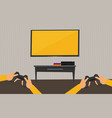 flat video game vector image vector image