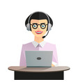 girl dispatcher character vector image