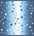 glowing pattern with dots hears spirals stars vector image vector image